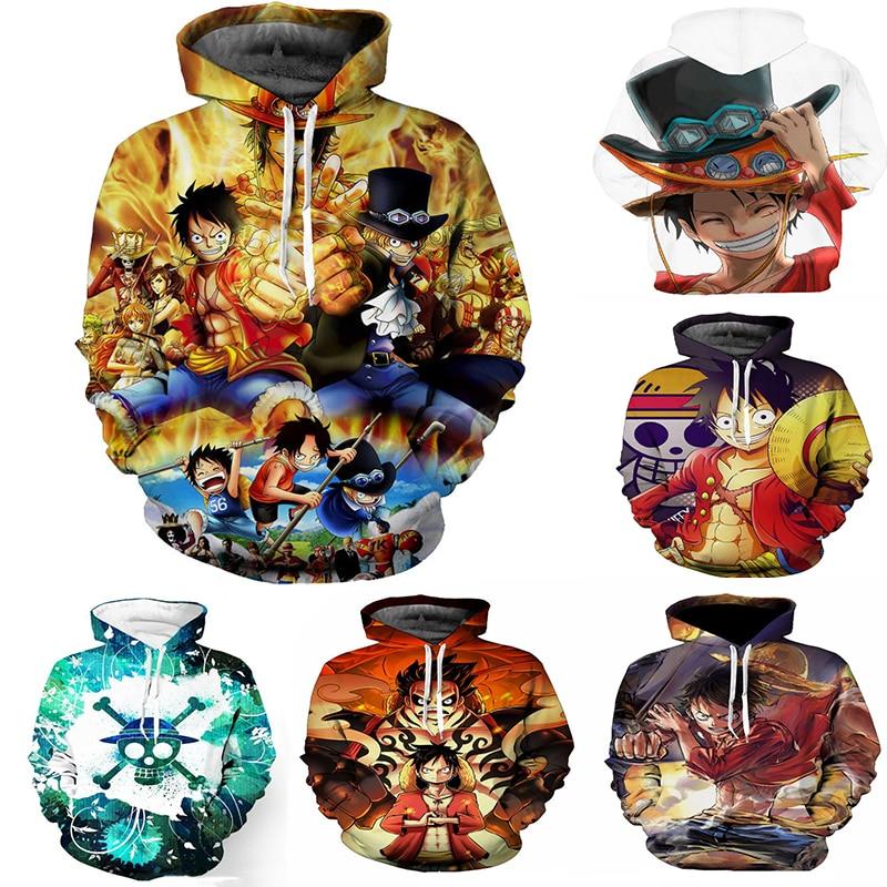 Anime ONE PIECE Cosplay Costumes Hoodies 3D Print Monkey D Luffy Daily Leisure Hoodie Hoody Casual Coat 3D Sweatshirts