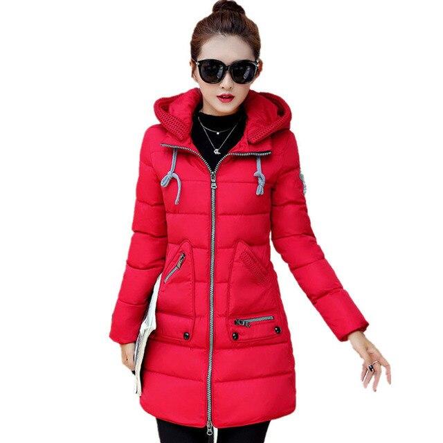 e2be40dcede Winter Coat Women Thickening Women Parkas Plus Size Women Clothing Winter  Jacket Woman Outerwear Ladies Black Red