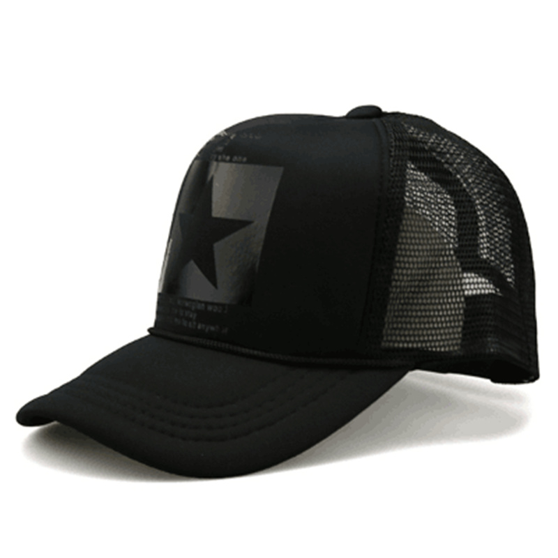 Mesh Cap Baseball-Hat Pointed-Star Breathable Outdoor Fashion Summer Brand Women Gorras
