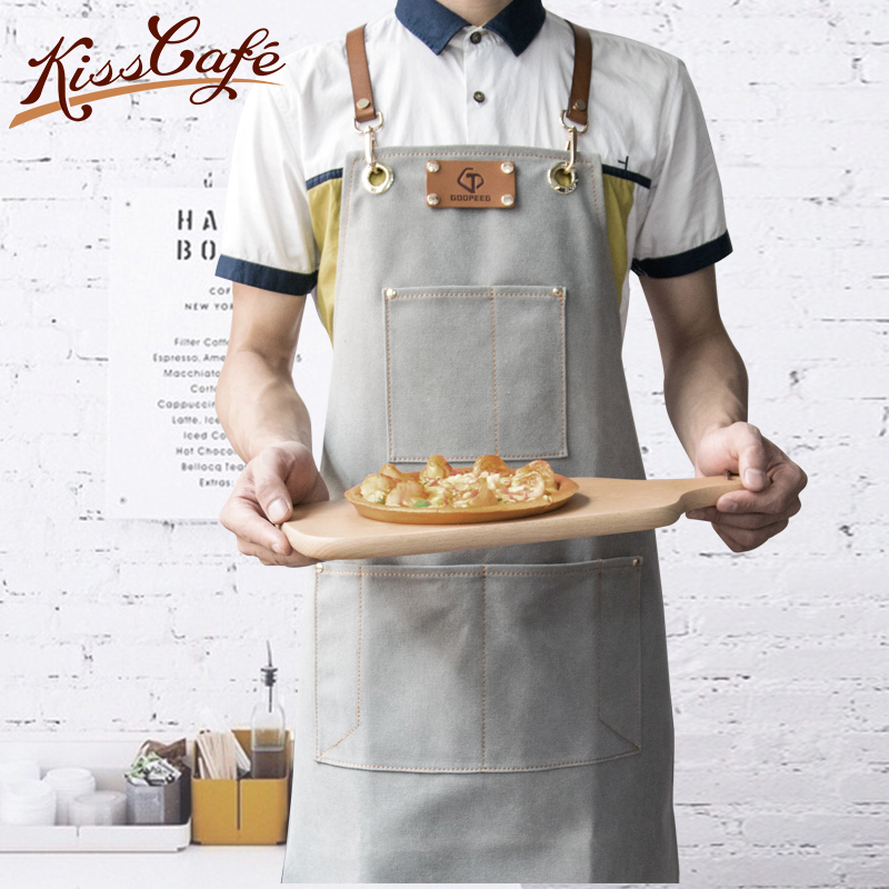 Barista Apron Coffee Cooking Kitchen Apron Chef Waiter Cafe Shop BBQ Hairdresser Aprons Gift Bibs Wholesale Coffee Accessories