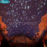 Maykit 20w Dmx Optical Fibre Light Led Source Double Motors Two Wheel Inside Starscope Ceiling Twinkle Effect Lighting CE Certif