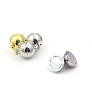 Image 3 - 50 adet küresel manyetik toka mıknatıs toka konnektörler Fit kolye bilezik DIY takı bulguları için