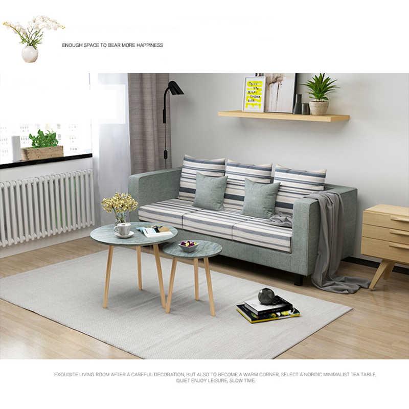 Meubles de Table d\'appoint Style Loft Union magique Table en bois moderne  salon Table basse jambes en bois massif canapé Table d\'appoint