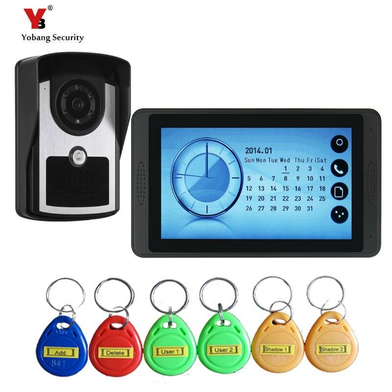 Yobang Безопасность Видео домофон Handsfree ночного видения дверь камера колокол цветной сенсорный монитор 7 дюймов громче динамик видео Interco - Цвет: 620FCID11