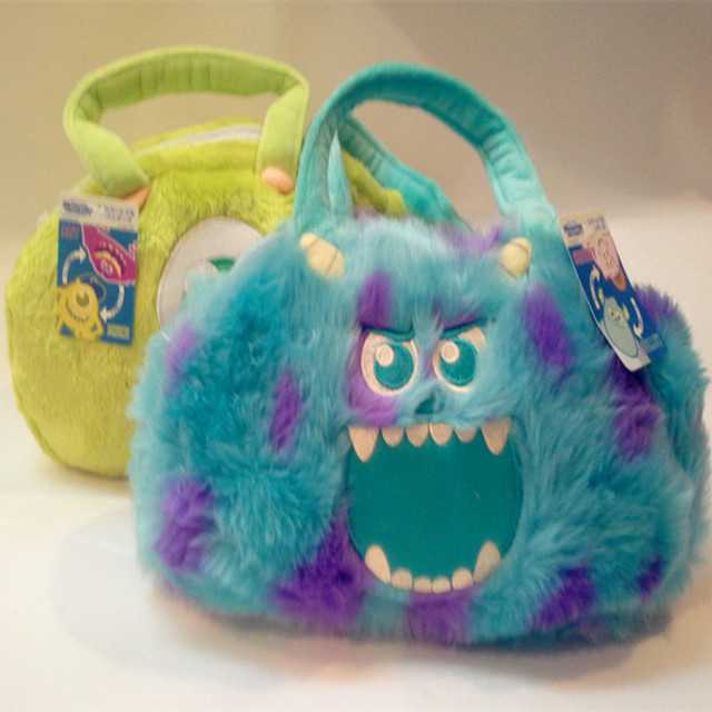 2016 New Arrival Plush Funny Sullivan Bag Women Handbags Monster University Wazowski Bolsa Cute Cartoon Animal Flaps