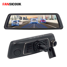 Fansicouk V9 10 «Полный сенсорный ips 4G Android зеркало со встроенным видеорегистратором 2G Оперативная память + 32G Встроенная память камера памяти GPS FHD 1080 P Двойной объектив Автомобильный видеорегистратор специальный кронштейн