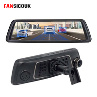 FANSICOUK V9 10Full Touch IPS 4G Android DVR Mirror 2G RAM+32G ROM Dash Camera GPS FHD 1080P Dual Lens Car Dvr Special Bracket