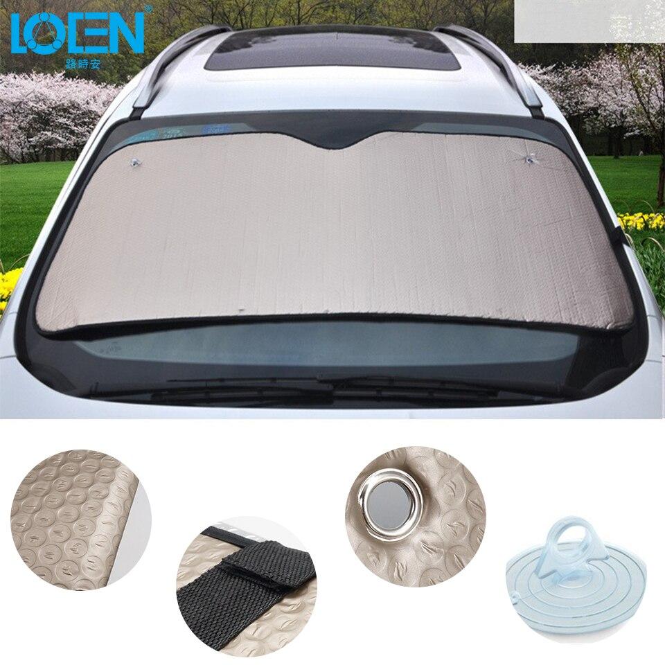 Insulate Car Windows: 140CM*70CM Thicken Aluminum Foil Car Summer Sucker Front