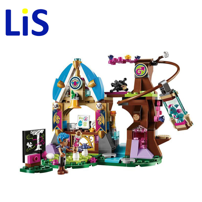 Lis 10501 Elvendale Dragon's School brick 41173 Building Blocks Elves Buildable Educational toys Compatible with lepin ynynoo bela 10501 233pcs princess friend elves elvendale school of dragons model building kits blocks brick with 41173
