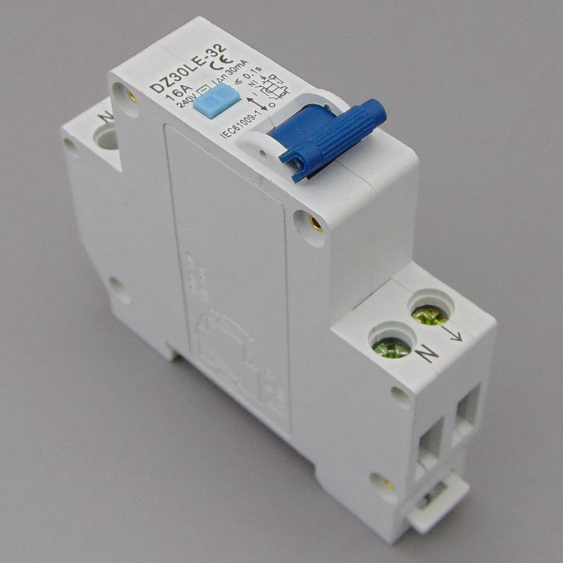 DZ47LE-32 TGC1LE 18MM RCBO 16A 1P+N 6KA Residual current Circuit breaker with over current and Leakage protection 30mA chint dz47le 32 3p c25a 30ma earth leakage circuit breaker residual current operated circuit breaker