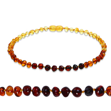 Genuine Natural Stone Necklace Supply Certificate Authenticity Classic Baltic Amber Gemstone Baby Necklace Gift 10 Color 14-33cm(China)