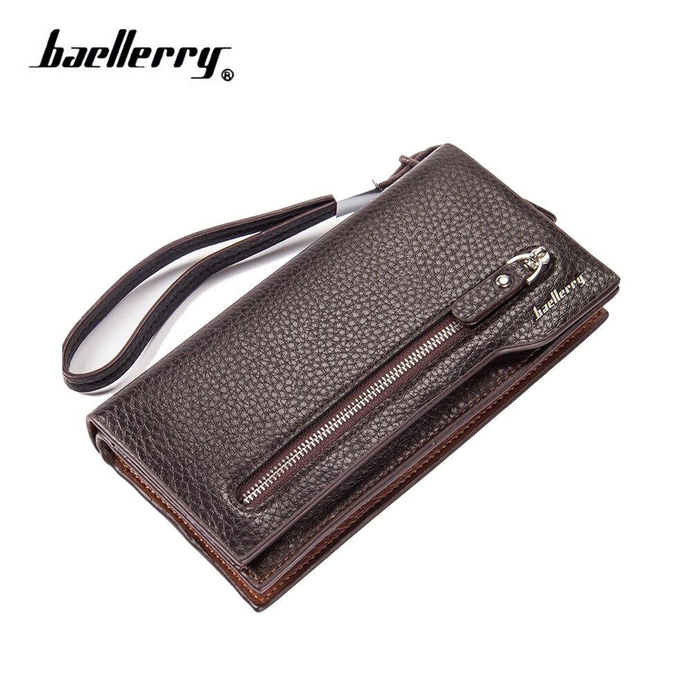 Baellerry men's wallet for money zipper buckle wallet multi-functional business card holder Quality Clutch bag purse D2052-8  цена и фото