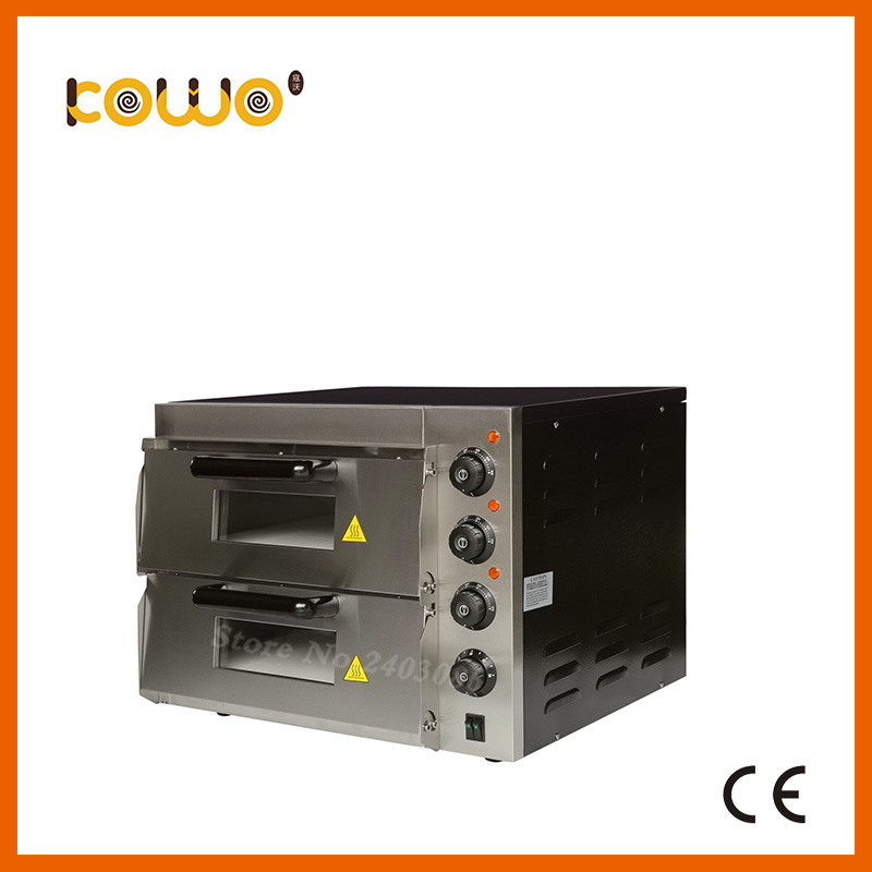 commercial catering equipment 2 layer temperature control electirc bread Pizza baking Oven for sale