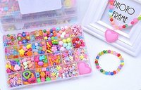 Jewelry Beads Set Accessories Toys, Handmade DIY Crafts Arts Jewelry Making Kits for Children's DIY Bracelets Necklace