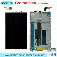 オリジナル新 2560*1440 のためのpptv王 7 7s PP6000 液晶表示画面 + タッチパネルガラスレンズデジタイザアセンブリ 6.0 インチ + ツール