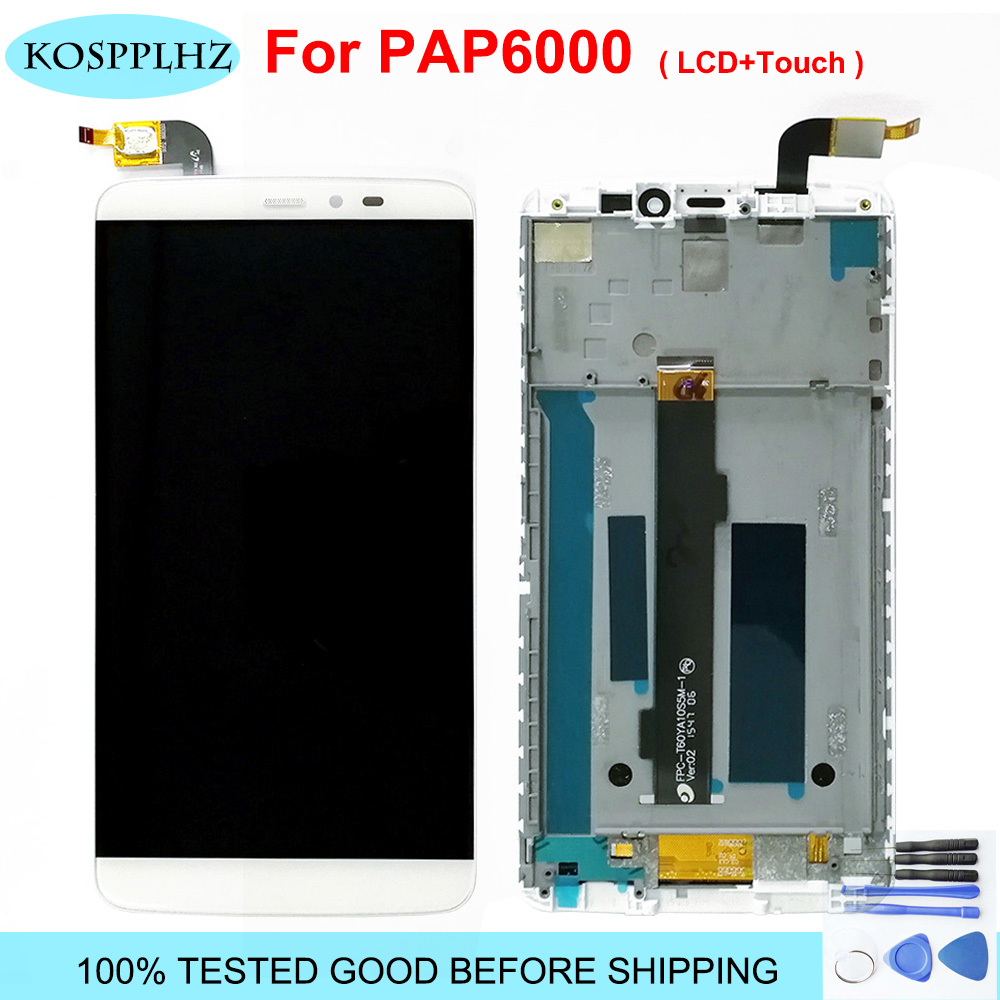 Original New 2560*1440 For PPTV King 7 7s PP6000 LCD Display Screen+Touch Panel Glass Lens Digitizer Assembly 6.0 Inch + Tools
