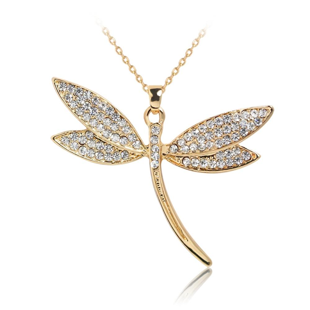 imixlot New Gold necklace women jewelry Fashion necklaces Butterfly Dragonfly pendants Love choker Women Statement Necklace