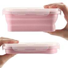 350/500/800/1200 мл легко носить с собой и чистить складной силиконовый Коробки для обедов Еда контейнер для хранения фруктов чаша