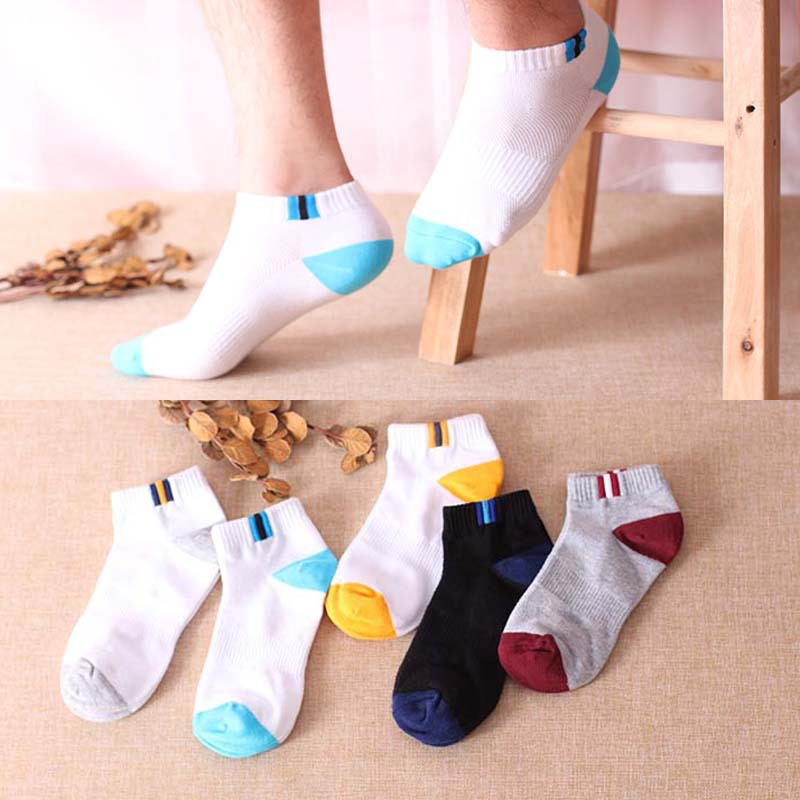 1 Pair Fashion High Quality Men s socks Mesh breathable cotton Classical strip socks Moisture wicking