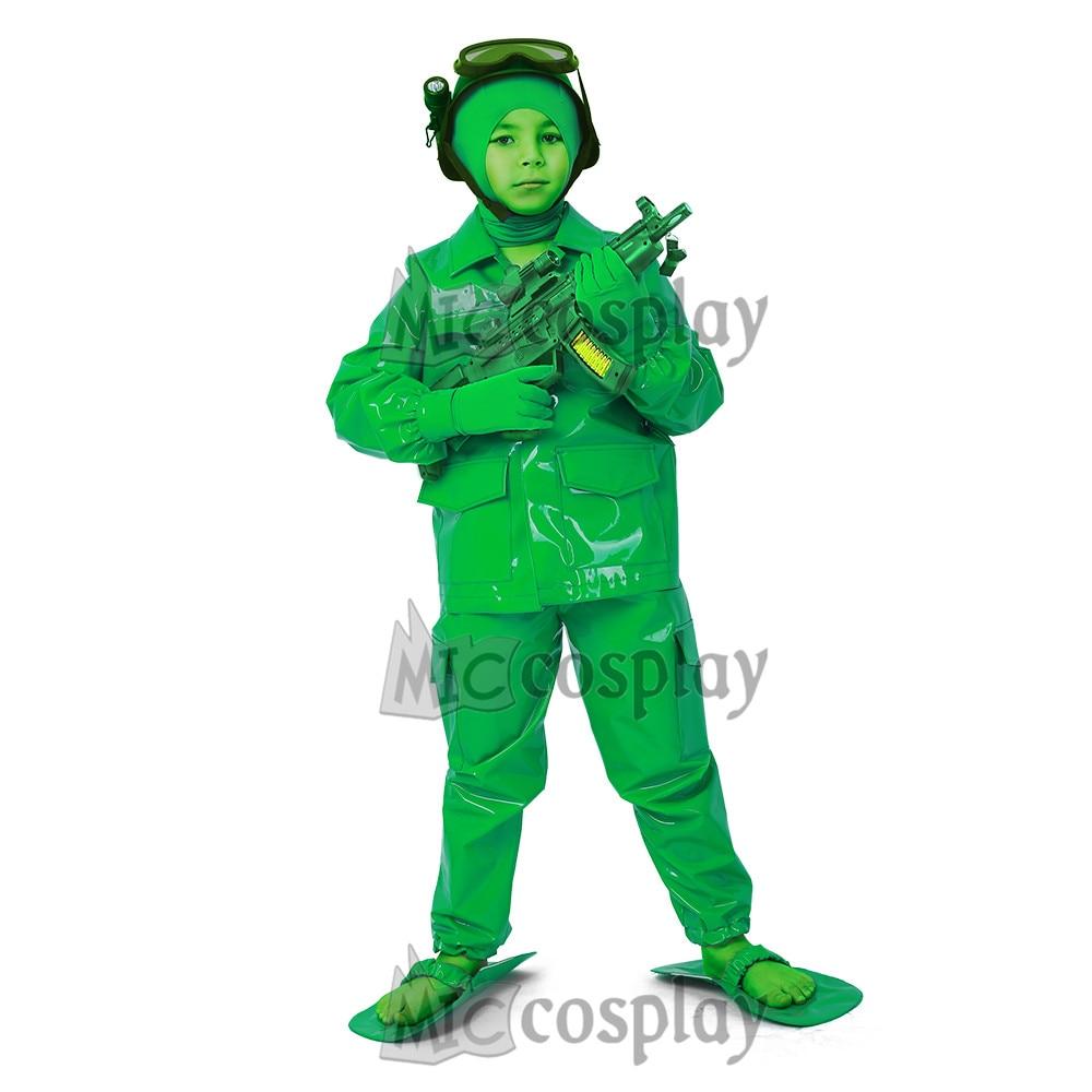 Little Kids Green Army Man Cosplay Soldier Costume Boys Halloween