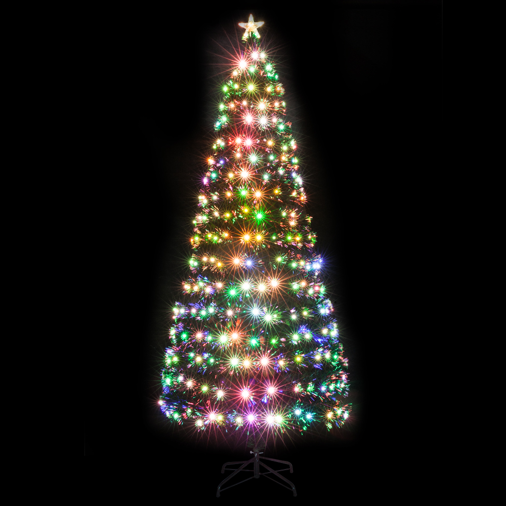 Christmas Tree Fiber Optic Lights: 7.5FT Fiber Optic Christmas Tree Xmas Tree With Colorful