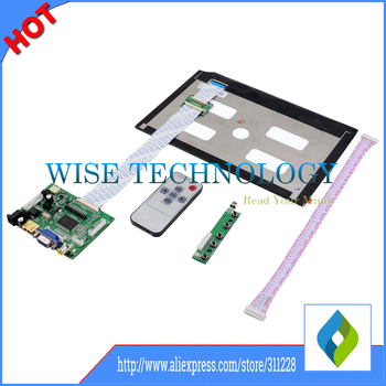 EJ101IA-01G 10.1'' Screen Display LCD TFT Monitor  with Remote Driver Control Board 2AV HDMI VGA for Rasbperry Pi