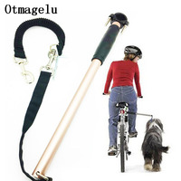 Nylon elastic Dog Bicycle Traction Belt Rope Dog Leash Bike Attachment Pet Walk Run Jogging Distance Keeper Hand Free Pets Leash