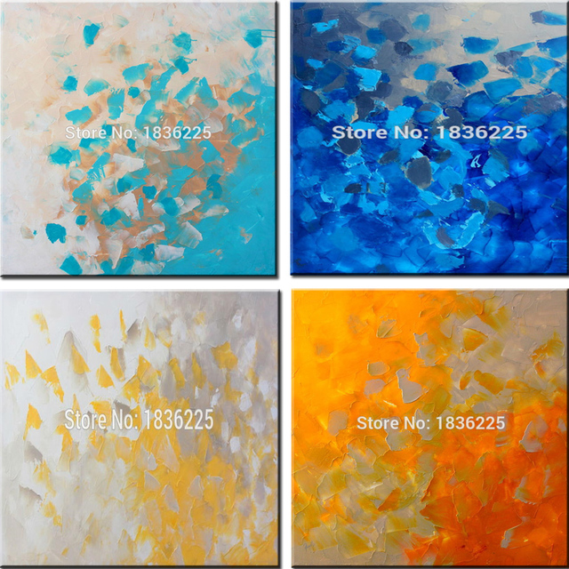 handmade simple modern oil painting on canvas high quality color