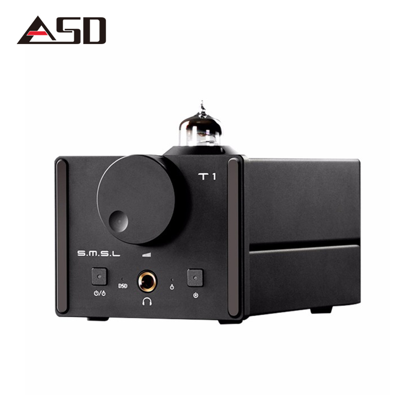 ASD SMSL T1 AK4490EQ+CM6632A DAC DSD512 Tube 384KHZ/32Bit OPTIC/Coaxial/XMOS/USB DAC Digital Tube Amp new smsl sanskrit pro b hifi digital audio bluetooth 4 0 decoder 32bit 384khz dsd usb coaxial optial dac cm6632a ak4490eq