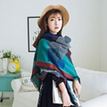 2016 High quality Square grid color Style the Silk Floss Women Scarf Shawl