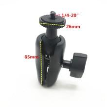25 ミリメートルボールマウントダブルソケットアーム 1/4 三脚アダプタネジに 1 インチボールマウントの Gopro アクションカメラ GPS Ram マウントホルダー