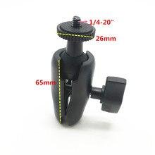 25mm topuz montaj kaidesi Çift Soket Kolu 1/4 Tripod Adaptörü Vida 1 inç topuz montaj kaidesi Gopro Eylem Kamera için GPS Ram montaj Tutucu