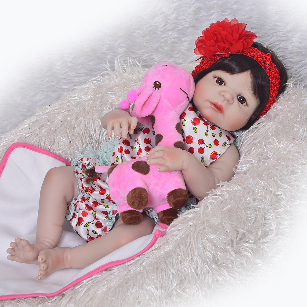 New Arrival Full Vinyl Silicone Reborn Dolls 57 cm Realistic Baby Girl Dolls Waterproof Alive 23'' bebe Bonecas Brinquedos Gifts new arrival full silicone vinyl baby dolls reborn girl 57 cm realistic alive new born bonecas 23 babies doll toy for children