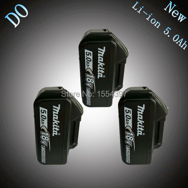 3PCS 5000mAh New Rechargeable Lithium Ion Power Tool Battery Replacement for Makita 18V BL1830 BL1840 LXT400 194205-3 194230-4 4500mah new rechargeable li ion replacement power tool battery for makita 18v bl1830 bl1840 lxt400 bl1815 194230 4 194205 3