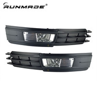 runmade Fog Lamps Set For 2009-2011 Audi A6 C6 A6L H11 55W Fog Light + Front Lower Bumper Grill Set