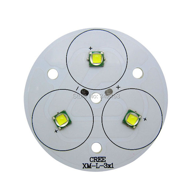 30W 3 Series 3PCS Cree XML XM-L White 6500K 9-11V 2-3A Led Emitter Light For Flashlight Torch 2PCS/LOT