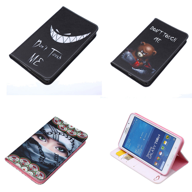 BF PU Leather Flip Holder Protective Case Cute Design Wallet Case For Samsung Galaxy Tab 4 7.0 T230 T231 T235 SM-T230NU bear design pu leather flip cover wallet card holder case for samsung galaxy a5 2017
