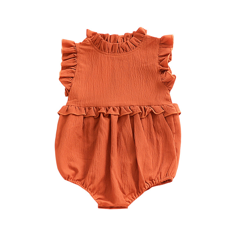 Hot Sale Baby Girl Summer Clothing Formal Ruffle Bodysuits for Toddlers 2018 Fashion Cotton Infant Newborn Baby Single Outfits