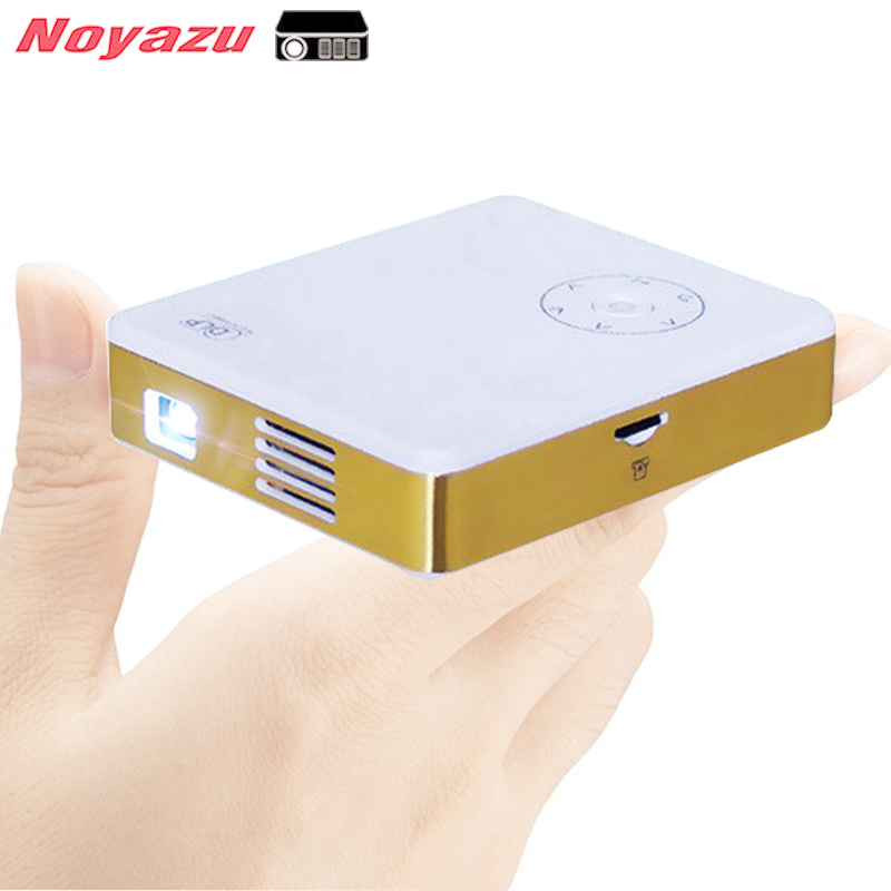 Noyazu 3200mAh Portable Mini LED Projector Smart WIFI DLP Pico Projector with HDMI USB Wireless Control