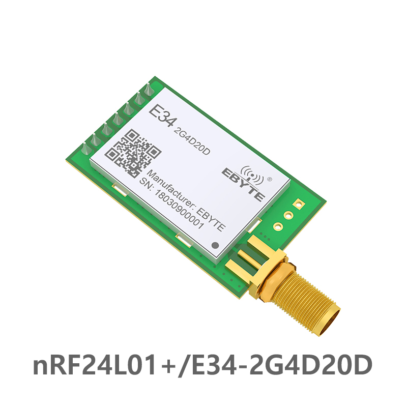 E34 2G4D20D nRF24L01P 2.4GHz 20dBm 2.4GHz rf Module Wireless Long Range  2km UART Long Range rf Transceiver Module-in Fixed Wireless Terminals from Cellphones & Telecommunications