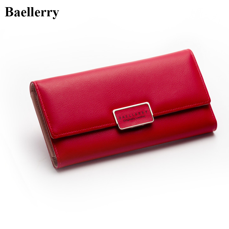 New Designer Phone Wallets Women Brand Leather Long Red Coin Purses Female