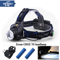 Portable Headlamp CREE xml t6 zoom Waterproof 4 Modes Brightness LED Headlight Head Lamp Light for Outdoor Sport