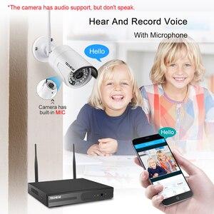 Image 4 - Techege 8CH 1080P NVR Audio zestaw do nadzorowania Plug and Play 8 sztuk 2MP HD bezprzewodowy wodoodporna Night Vision bezpieczeństwo System CCTV