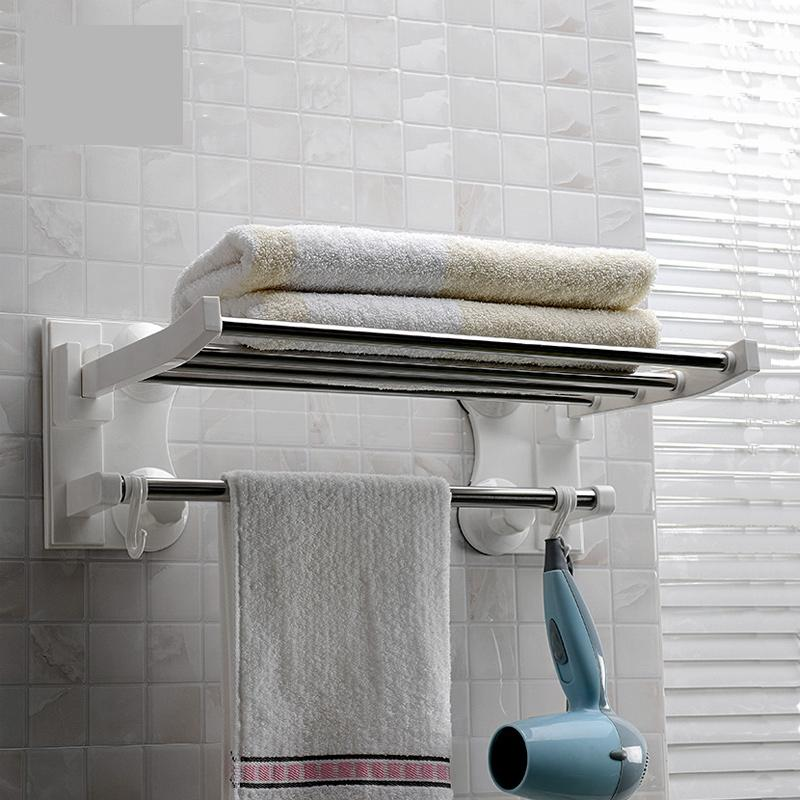 40cm bathroom wall mounted towel rack standing foldable