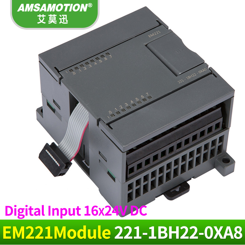 Amsamotion EM221 6ES7 221-1BH22-0XA8 16Input 24V Digital Module Suitable Simens S7-200 PLC цена