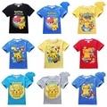 Pokemon Ir Equipo de Camisetas Boy Kids Camisa de Manga Shorts de Verano Equipo Remata camisetas Nerd Pokeball Pikachu camiseta Ocasional Tee Shirt