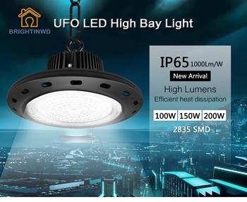цена на UFO Mining High Bay Lights SMD2835 High Power LED Industrial Light for Factory/Warehouse Machine Lamp 100W 150W 200W BRIGHTINWD