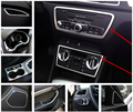 Stainless Steel Car Door Armrest/Audio Loudspeaker Decal Trim For Audi Q3 Console Water Cup Holder Frame Cover Headlight Decals