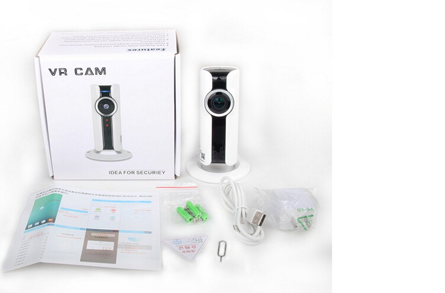 720P Mini IP WIFI Camera Mobile Monitor 1.0MP Wireless Indoor CCTV Two-way Audio 180 Fisheye Remote Home Smart Surveillance Cam