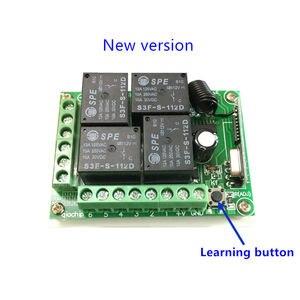 Image 4 - 433 Mhz العالمي لاسلكي للتحكم عن بعد التبديل تيار مستمر 12 فولت 4CH وحدة الاستقبال التتابع و RF الارسال 433 Mhz التحكم عن بعد